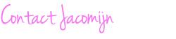 Contact Jacomijn